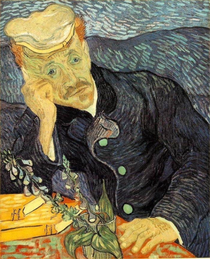 ゴッホが描いたガシェ医師の肖像