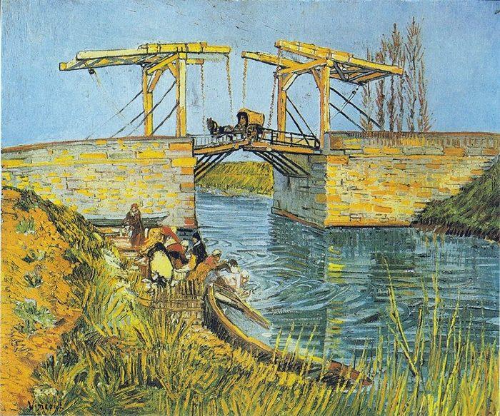 「アルルの跳ね橋」1888