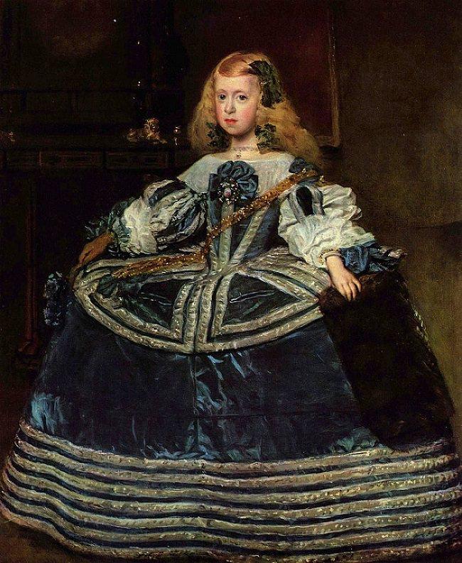 青いドレスの王女マルゲリータ