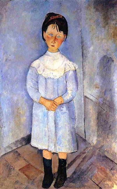 青い服の少女