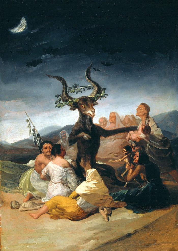 《魔女の集会》 フランシス・デ・ゴヤ 1797~8年