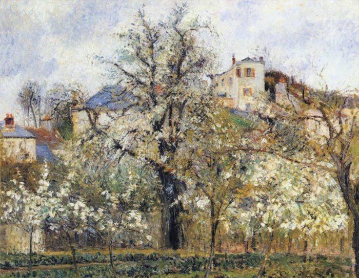 ポントワーズ、花咲く菜園