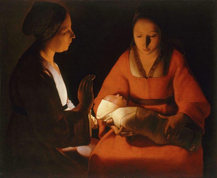 『新生児』 1645~48年頃 76×91㎝ レンヌ美術館蔵