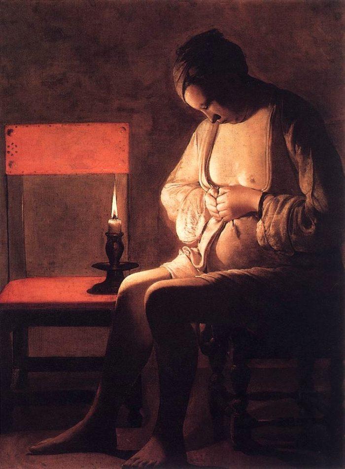 『蚤をとる女』 1635~38年頃 120×90㎝ ナンシー ロレーヌ歴史博物館蔵