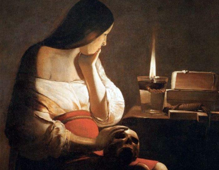 1628~45年 113×93㎝ ワシントン ナショナルギャラリー蔵 別名;鏡のマグダラのマリア