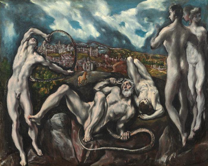 「ラオコーン」 1610~14年ごろ 142×193㎝ ワシントン ナショナルギャラリー蔵