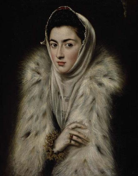 「毛皮の襟巻をまとう婦人」 1577~78年頃 62×50㎝ グラスゴー ポロック・ハウス蔵