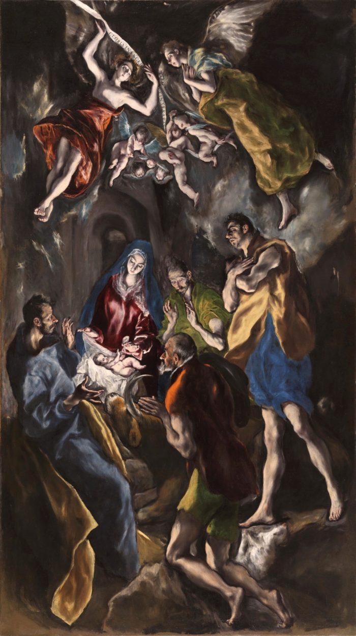 「羊飼いの礼賛」 1612-14年 319×180cm プラド美術館蔵