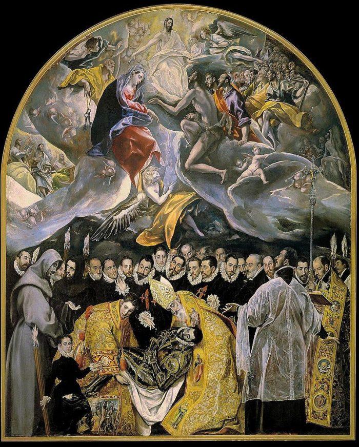 「オルガス伯の埋葬」 1586-88年 480×360㎝ トレド サント・トメ教会蔵