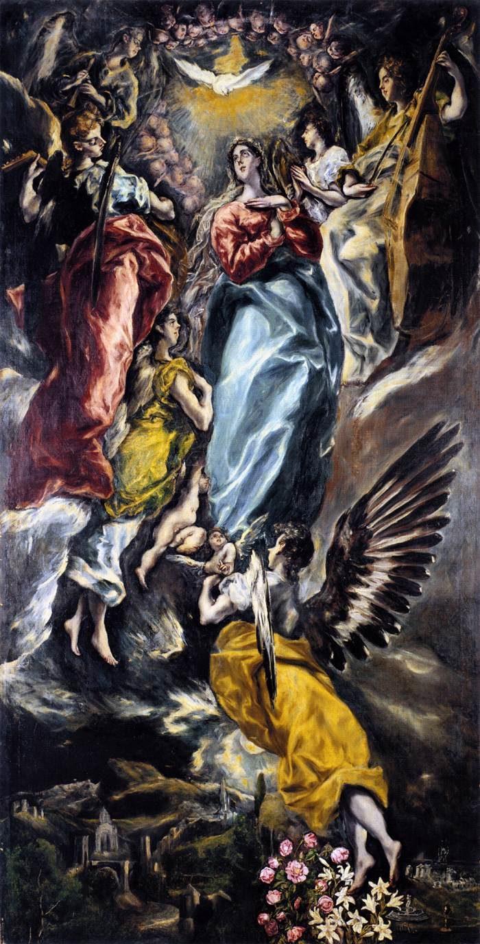 無原罪のお宿り 1608-13年  347×174㎝  サンタ・クルス美術館所蔵