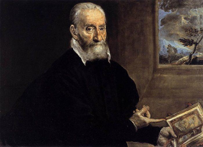 ジュリオ・クローヴィオの肖像 1572年 58×86㎝ ナポリ カーポディモンテ国立美術館蔵