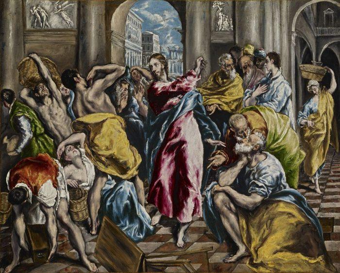 「神殿の清め」 1600年頃  フリック・コレクション蔵