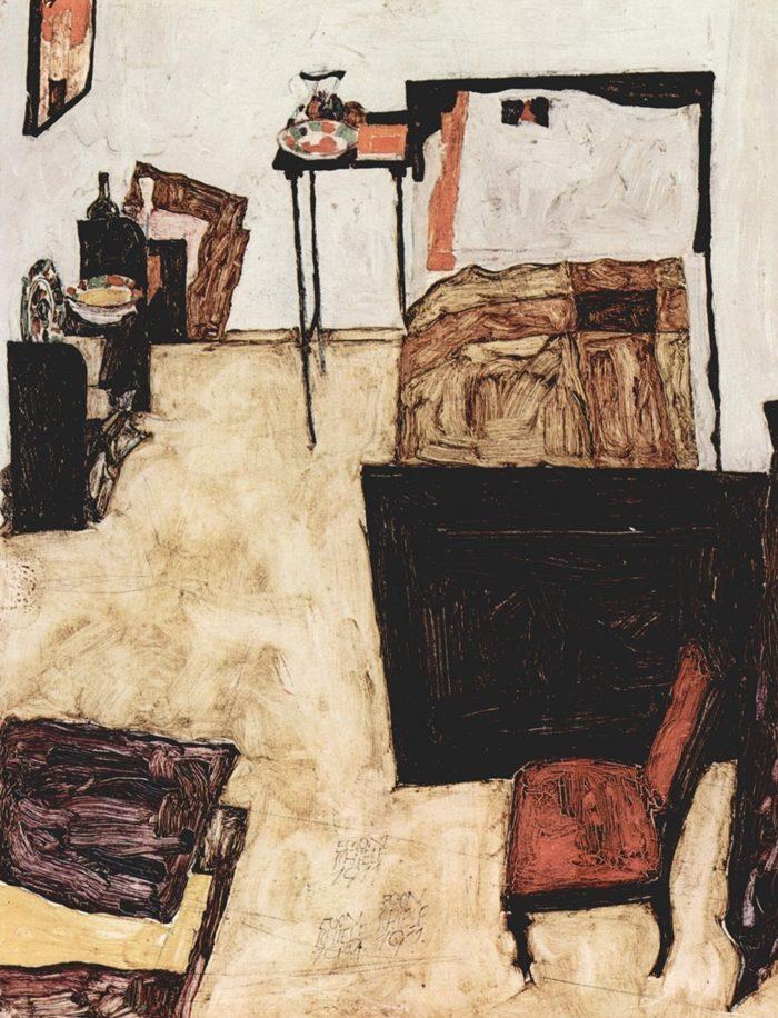 《ノイレングバッハの画家の部屋》 エゴン・シーレ 1911