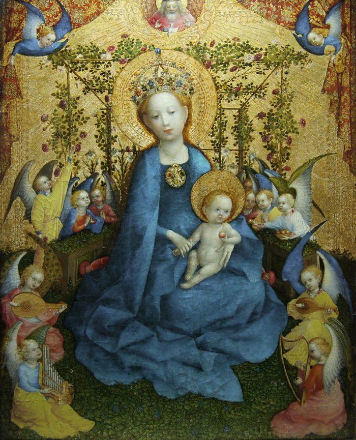 《薔薇垣の聖母》シュテファン・ロッホナー 1400年