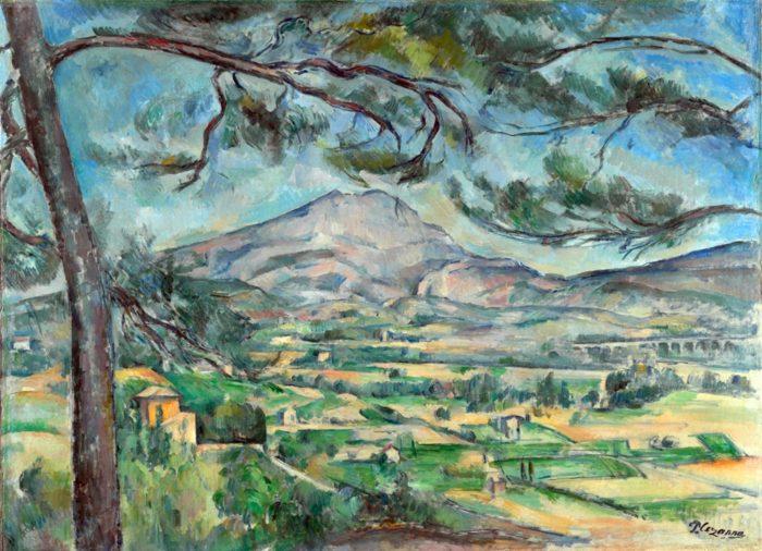 『大きな松のあるセント・ヴィクトワール山』