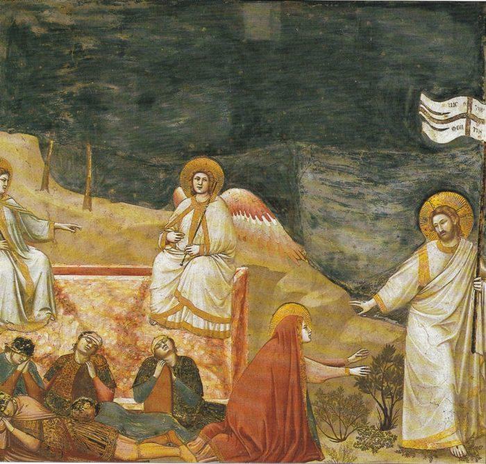 ジョットの代表作⑨『 キリストの復活とノリ・メ・タブゲレ(我に触れるな)』