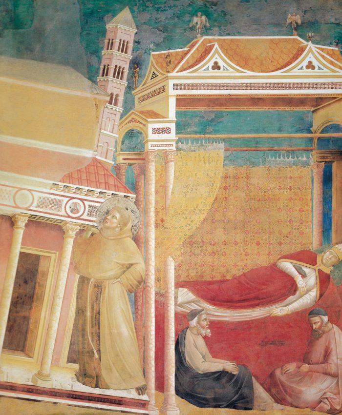 ジョットの代表作⑪『《聖フランチェスコ伝》インノケンティウス3世の夢 』