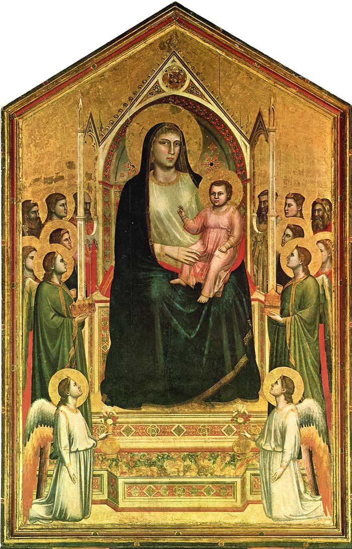 ジョットの代表作②『オニサンティの聖母(荘厳の聖母) 』