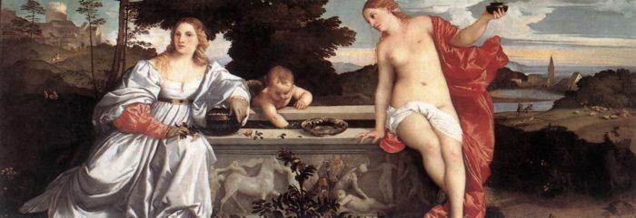 聖愛と俗愛 ローマ ボルゲーゼ美術館蔵
