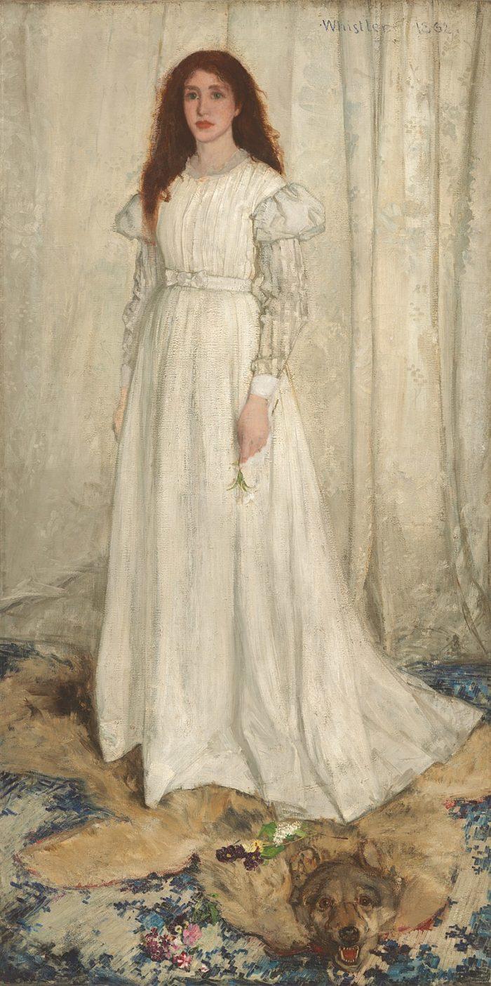 『白のシンフォニー』1862年 ワシントン・ナショナルギャラリー像